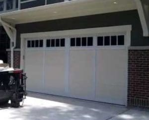 A finished Clopay brand garage door installation in Provo, Utah.