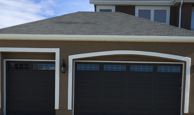 Garage door installation in Utah County.